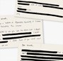 Redacted letters to the other Korea